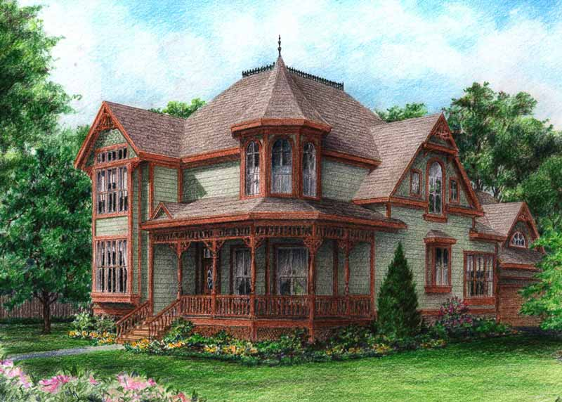 Victorian Style Home Plan C8062