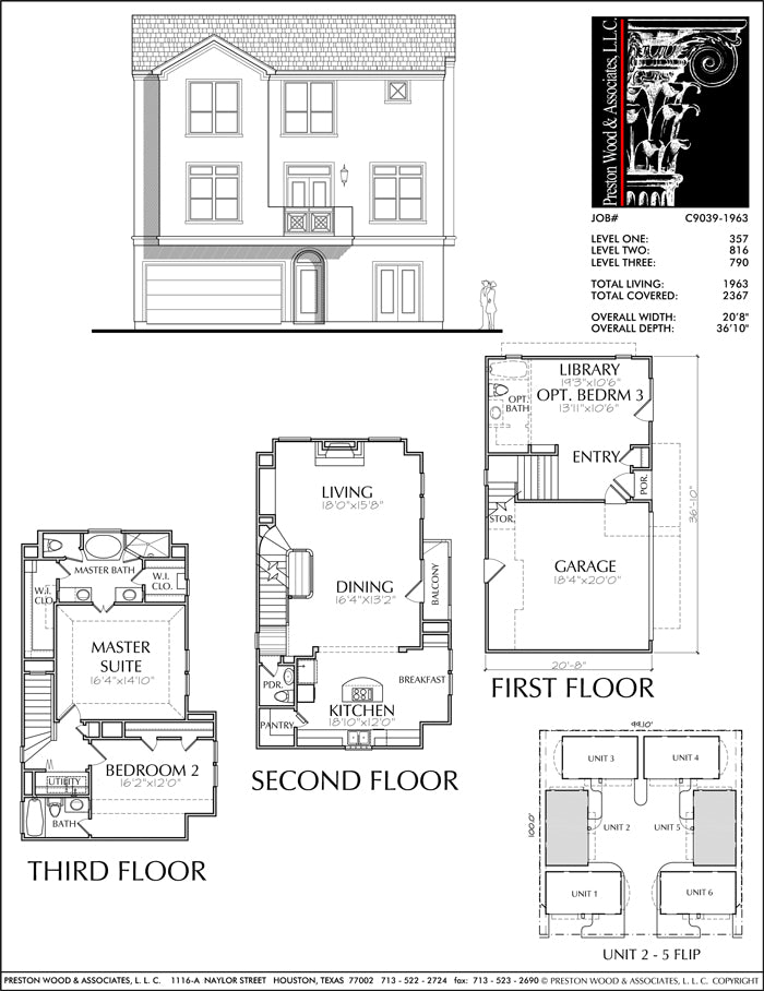 Townhouse Plan C9039-1963