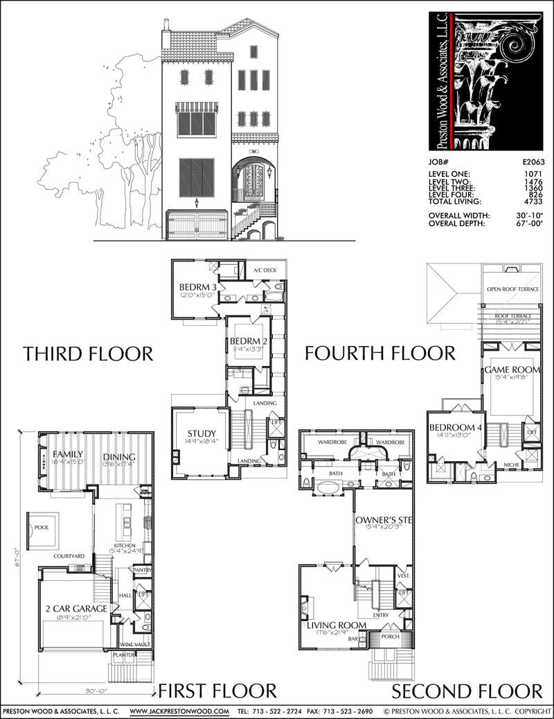 Townhouse Plan E2063