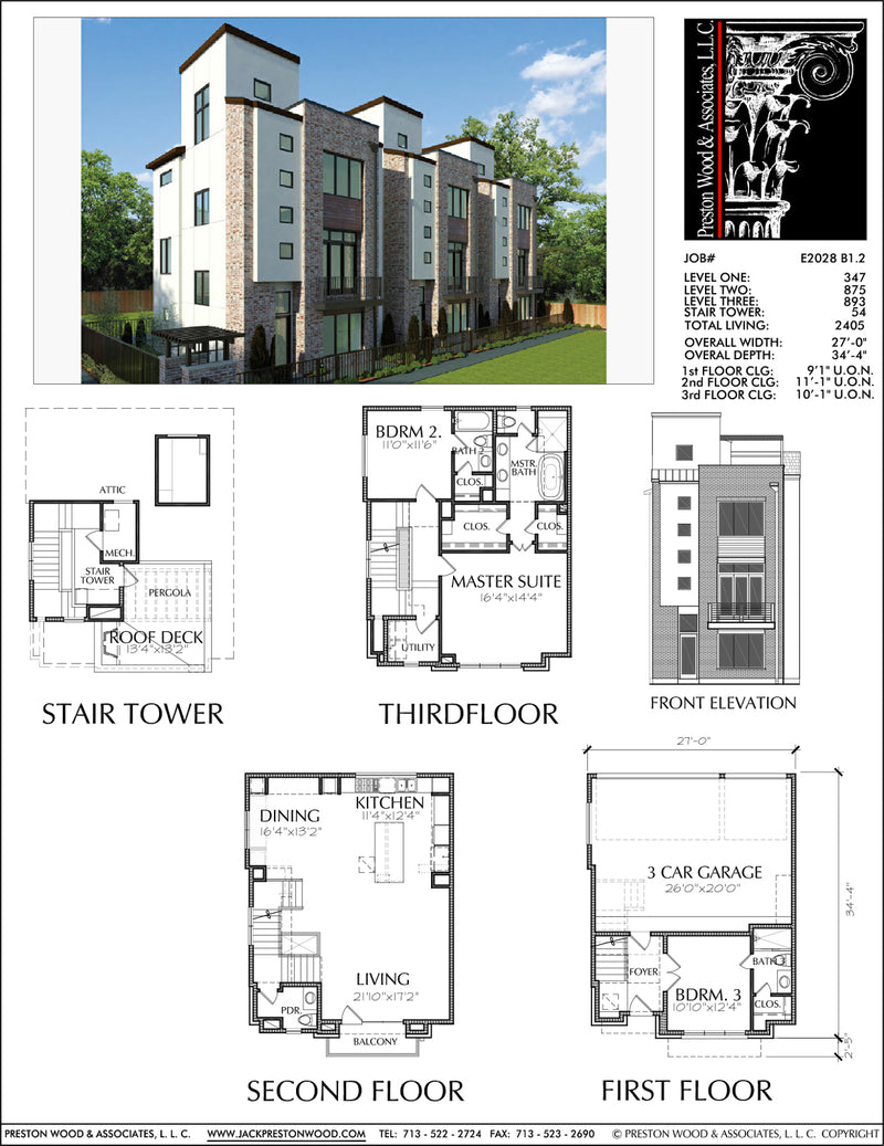 Townhouse Plan E2028 B1.2