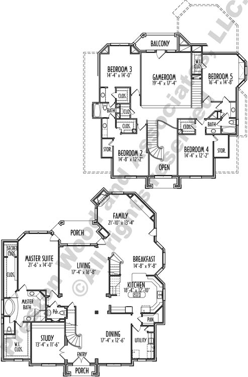 Two Story House Plan C9275