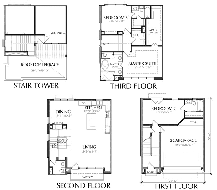 Townhouse Plan E2252 A1.2