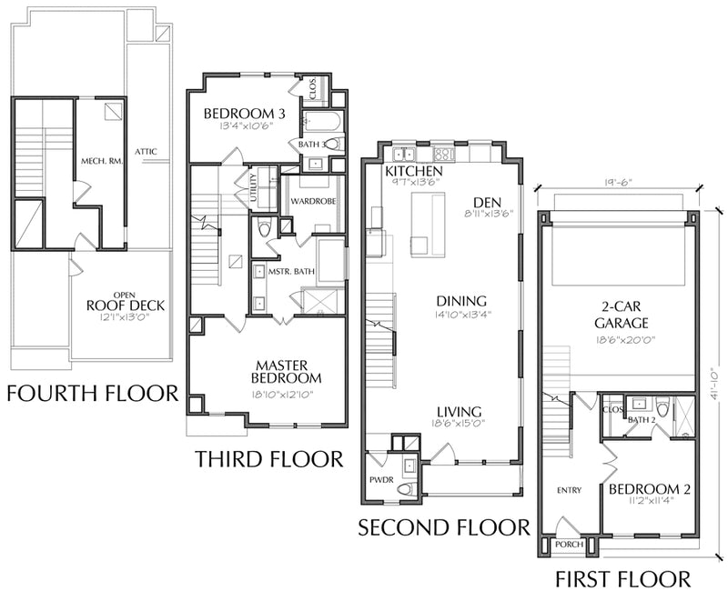 Townhouse Plan E3006 A1.1L
