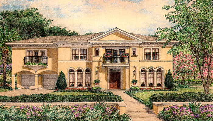 Two Story House Plan D0256