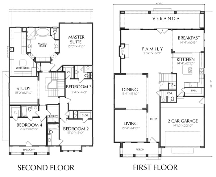 Two Story House Plan D6218