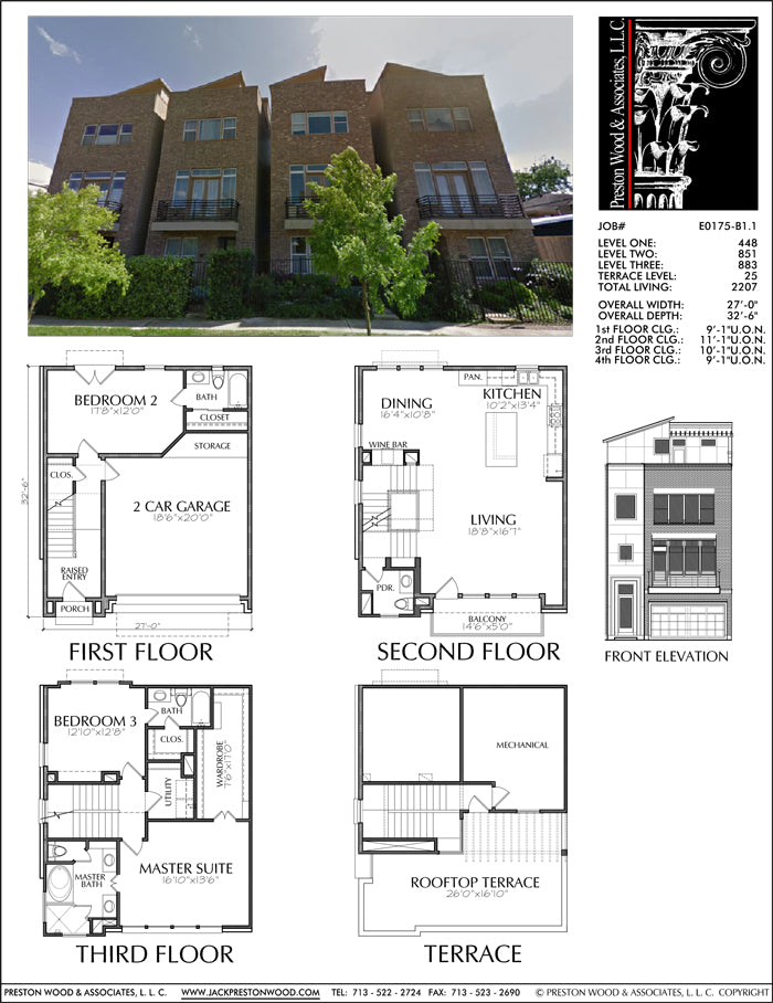 Townhouse Plan E0175 B1.1