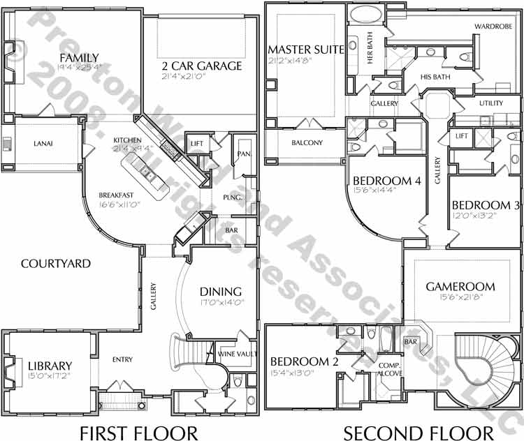 Two Story House Plan D5014