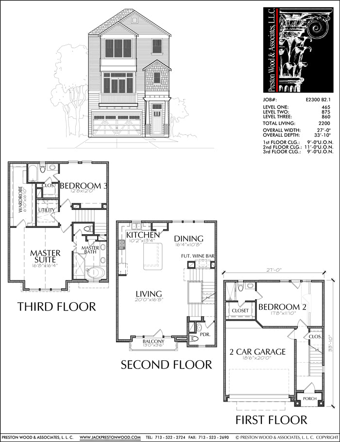 Townhouse Plan E2300 B2.1