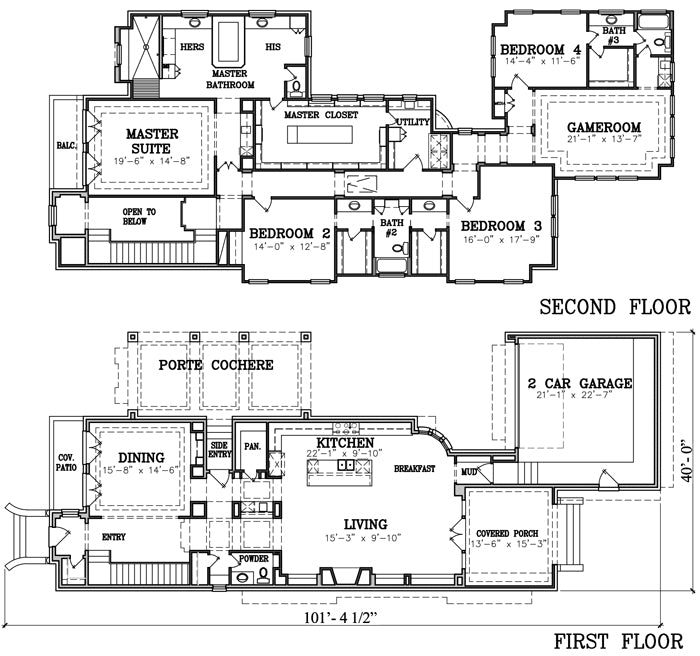 Two Story House Plan X0002
