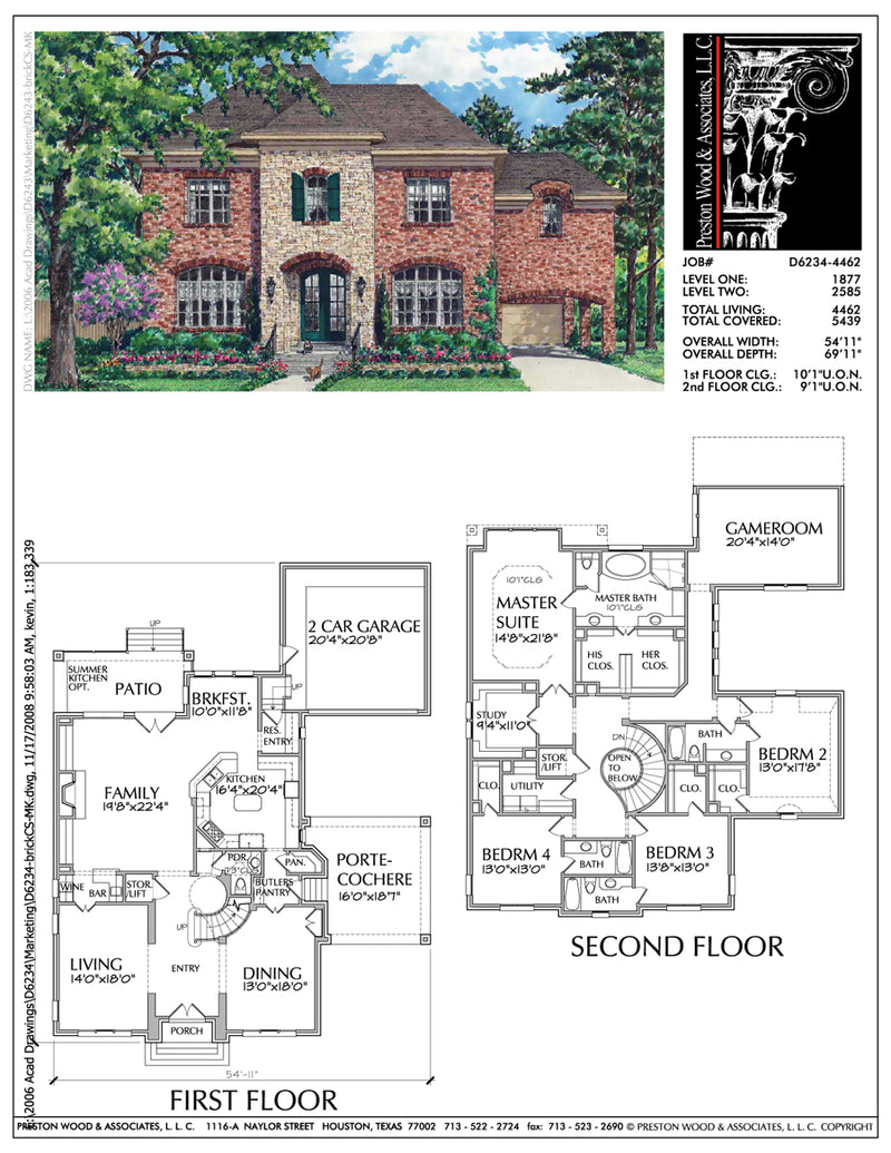 Two Story House Plan D6234