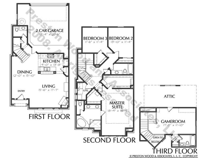 Townhouse Plan D3034 u4L