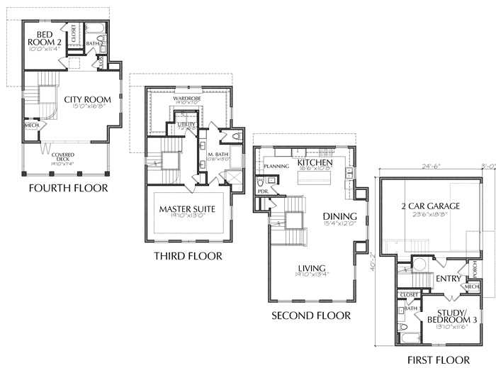 Townhouse Plan E2282 A3.1L