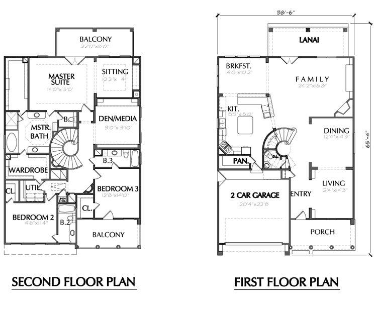 Two Story House Plan D6214