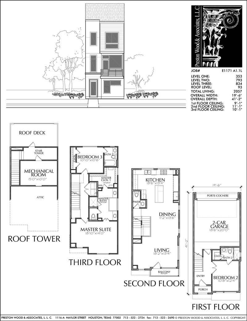 Townhouse Plan E1171 A1.1L