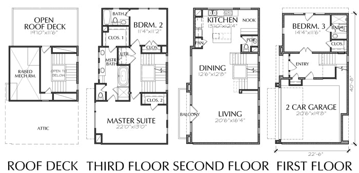 Townhouse Plan E1226 A