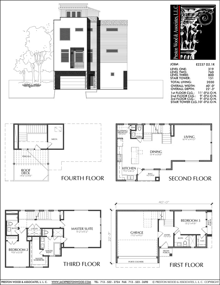 Townhouse Plan E2237 D2.1R