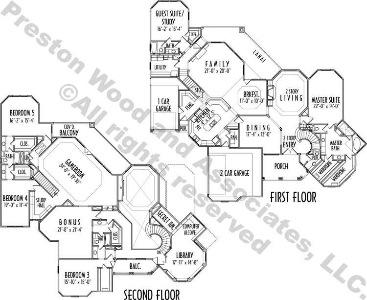 Two Story House Plan C9116