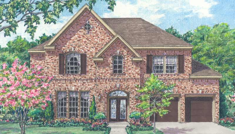 Two Story Home Plan bD7023