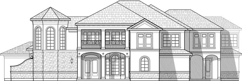 Two Story House Plan C8206