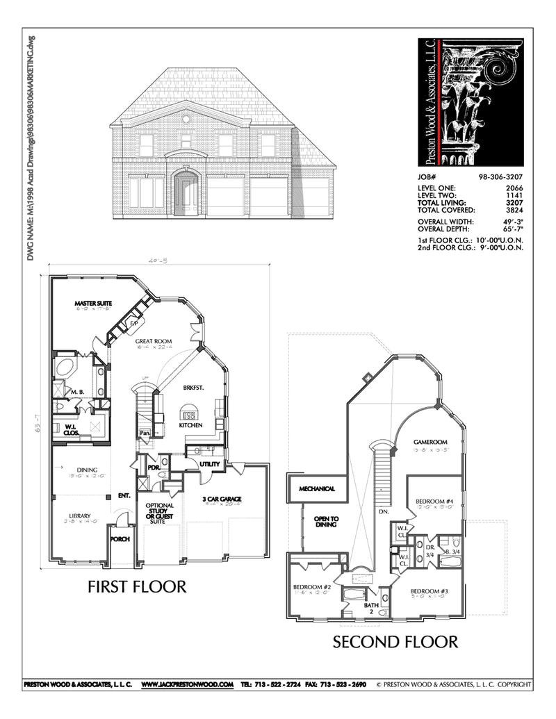 Two Story House Plan C8306