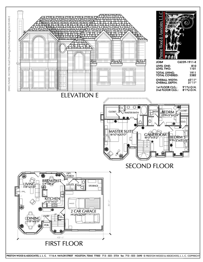 Two Story House Plan C6239 E