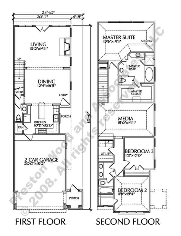 Townhouse Plan D7005 1B