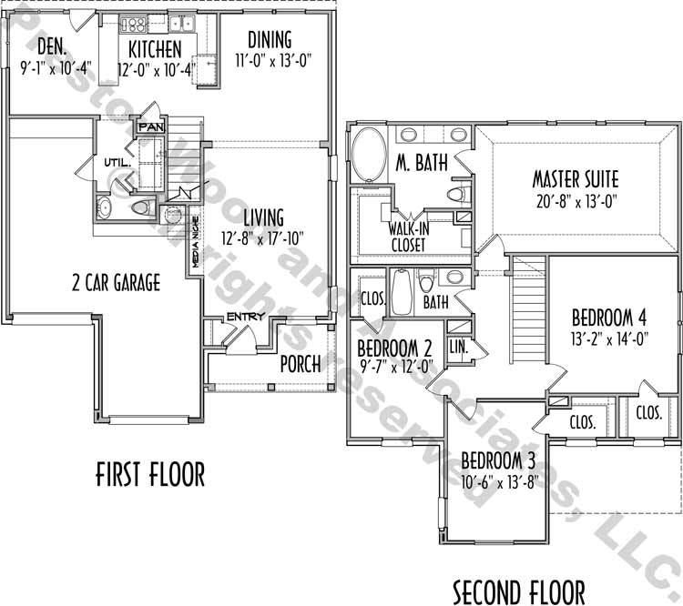 Urban House Plan D2049 2005