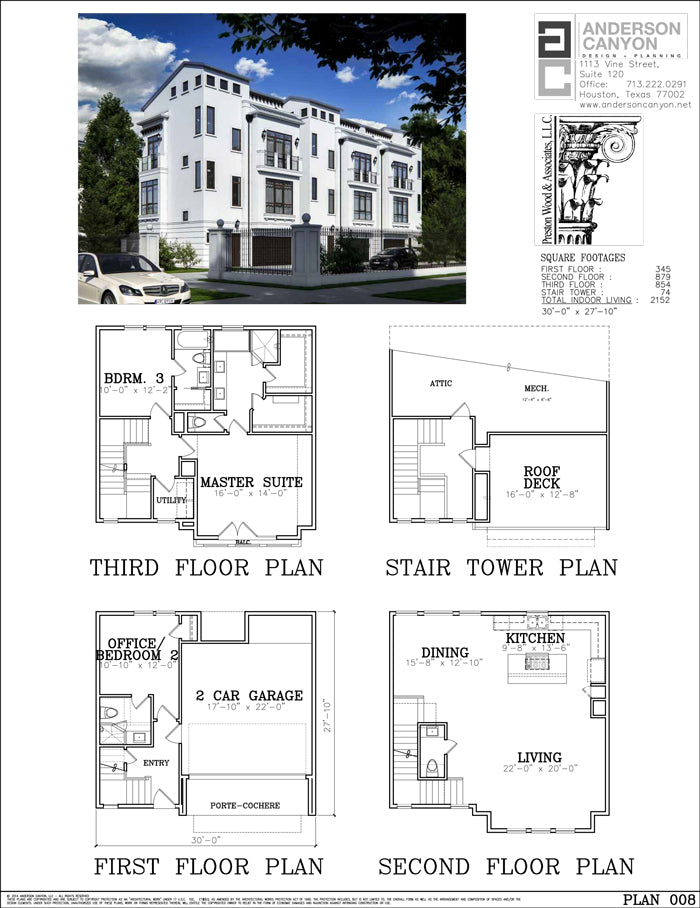 Townhouse Plan E4145-008