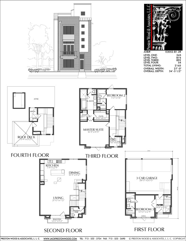 Townhouse Plan E3052 B1.2