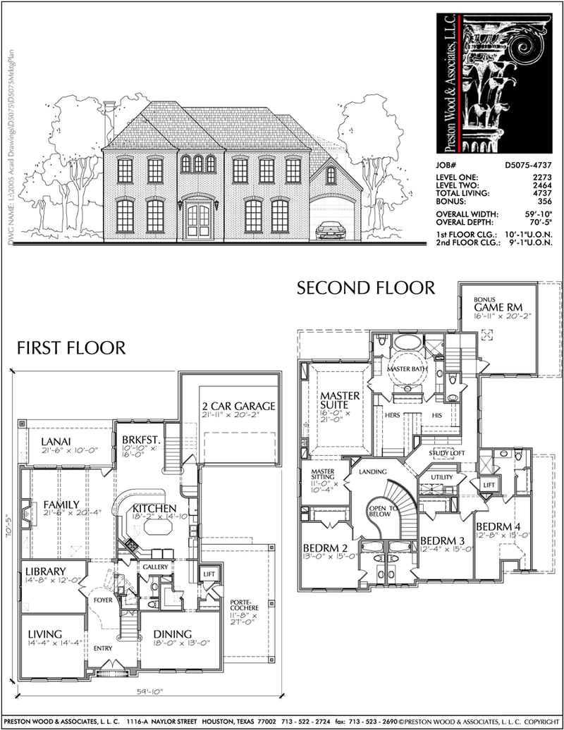 Two Story House Plan D5075