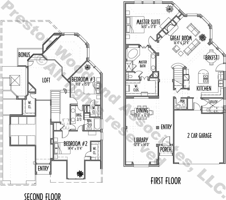 Patio House Plan C6140