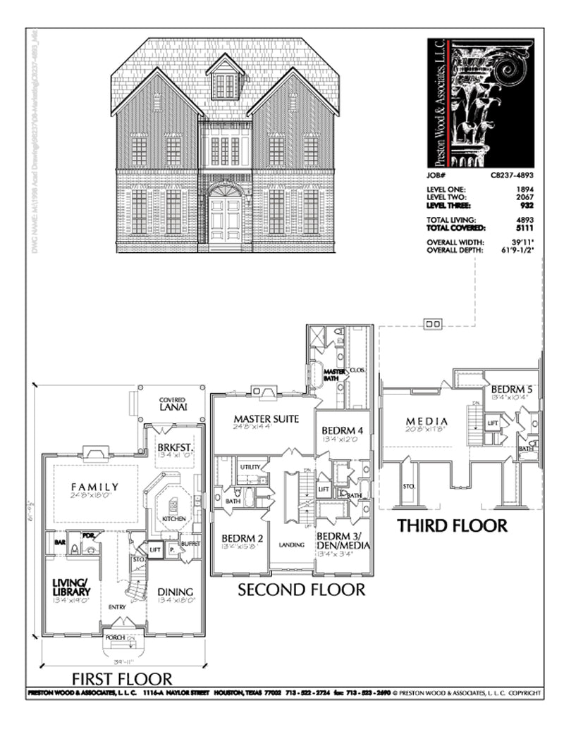 Urban House Plan C8237