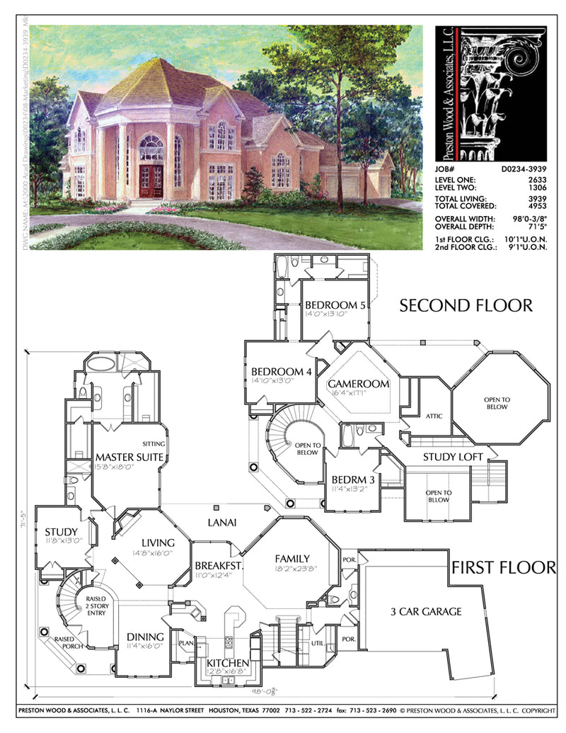 Two Story Home Plan bD0234