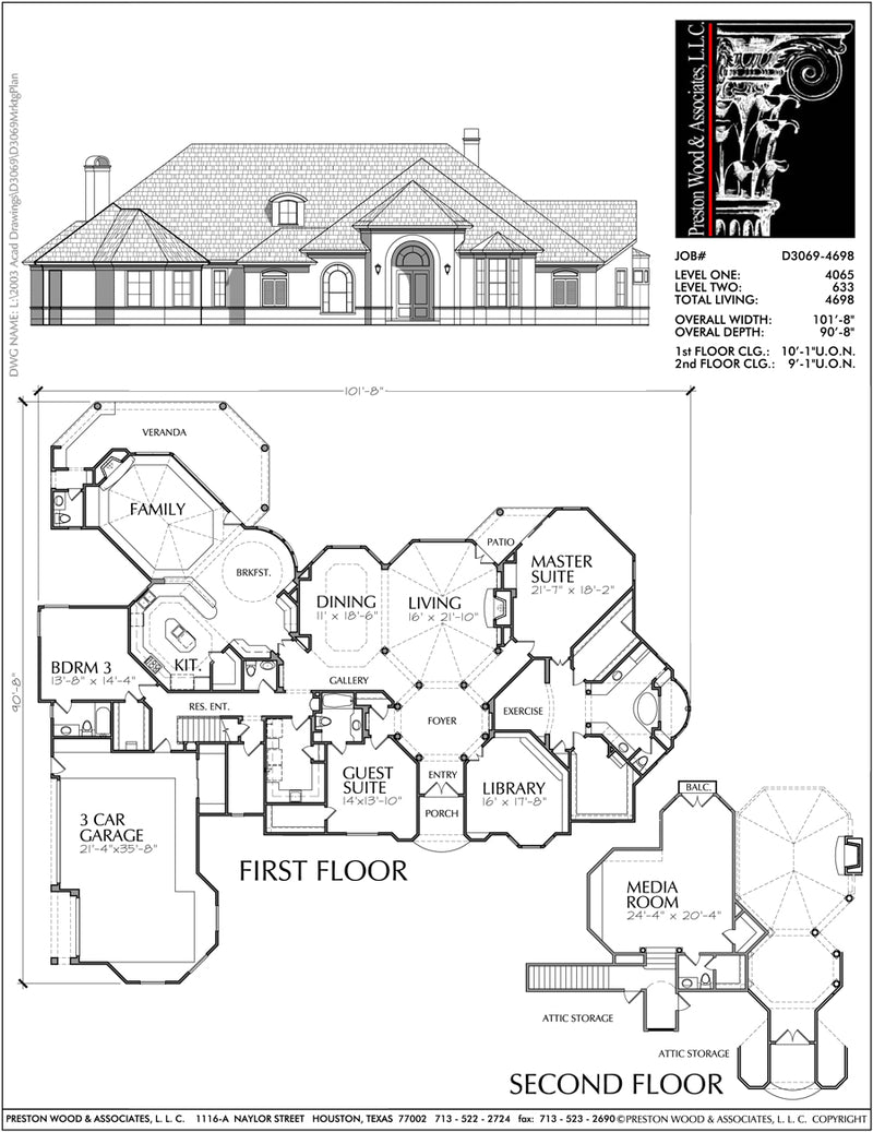 Two Story House Plan D3069