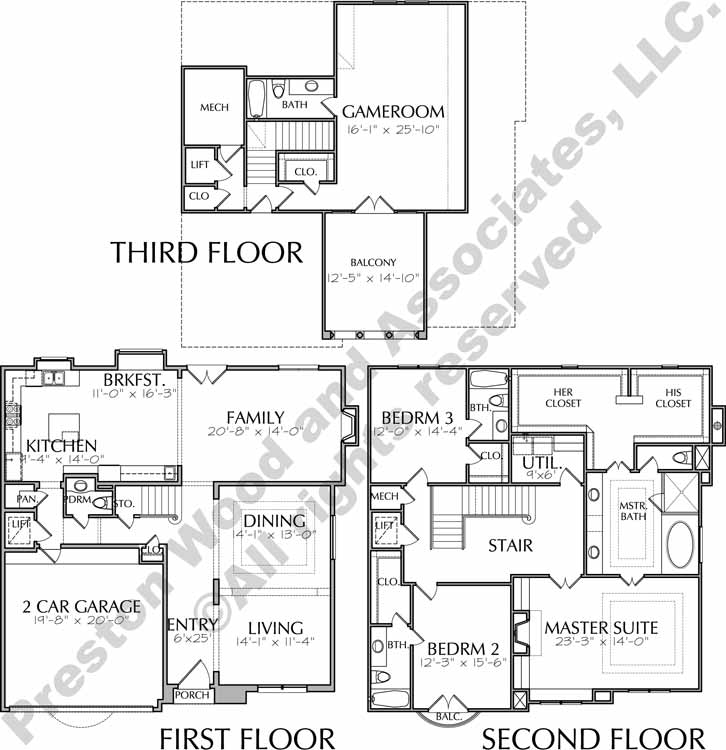 Urban House Plan D7166