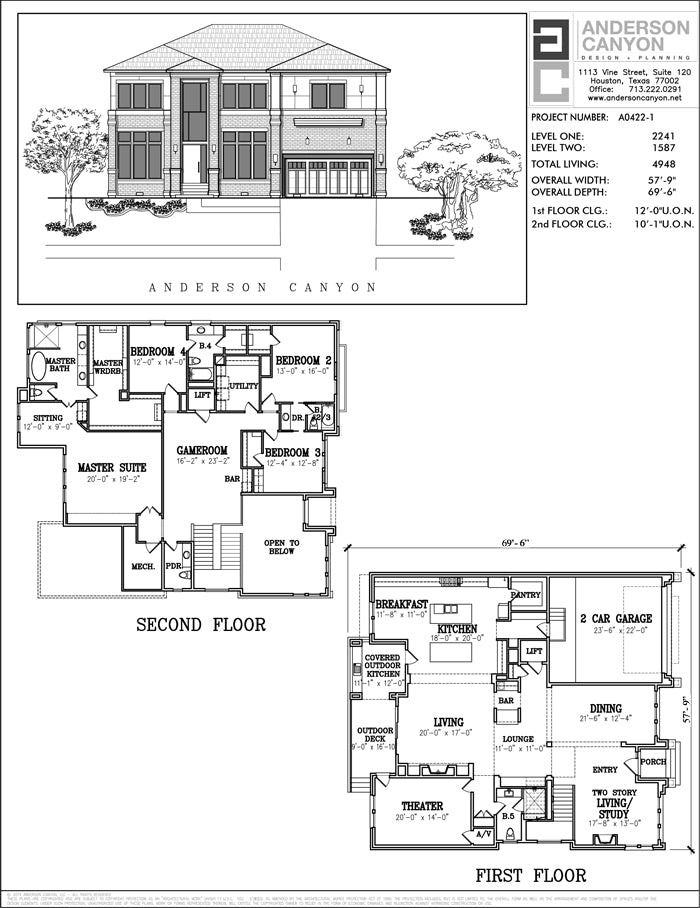 Two Story House Plan A0422