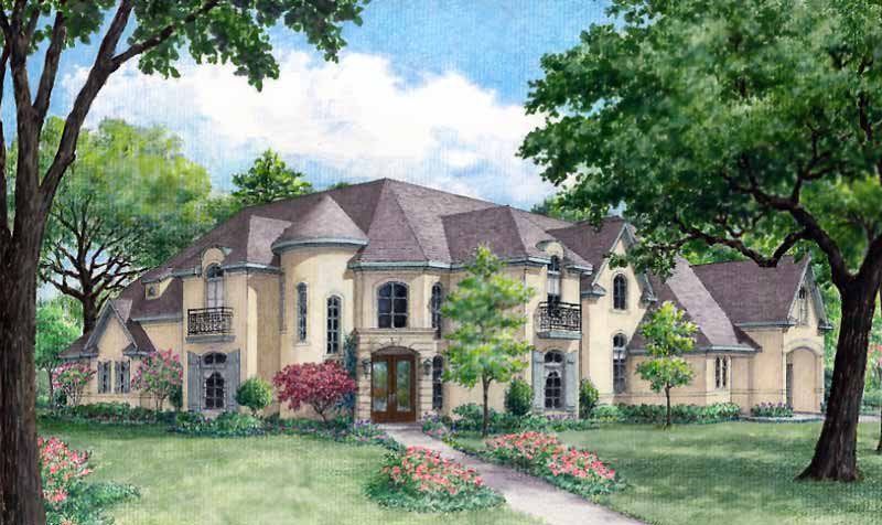 Two Story Home Plan D3216