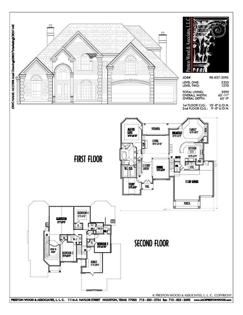 Two Story House Plan C8037