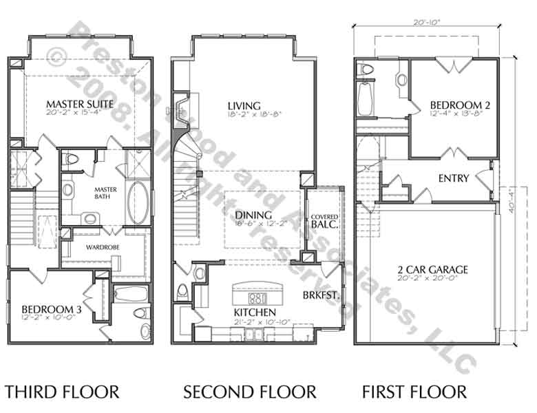 Townhouse Plan D4174-u3