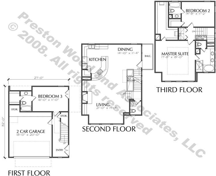 Townhouse Plan D4015 u1