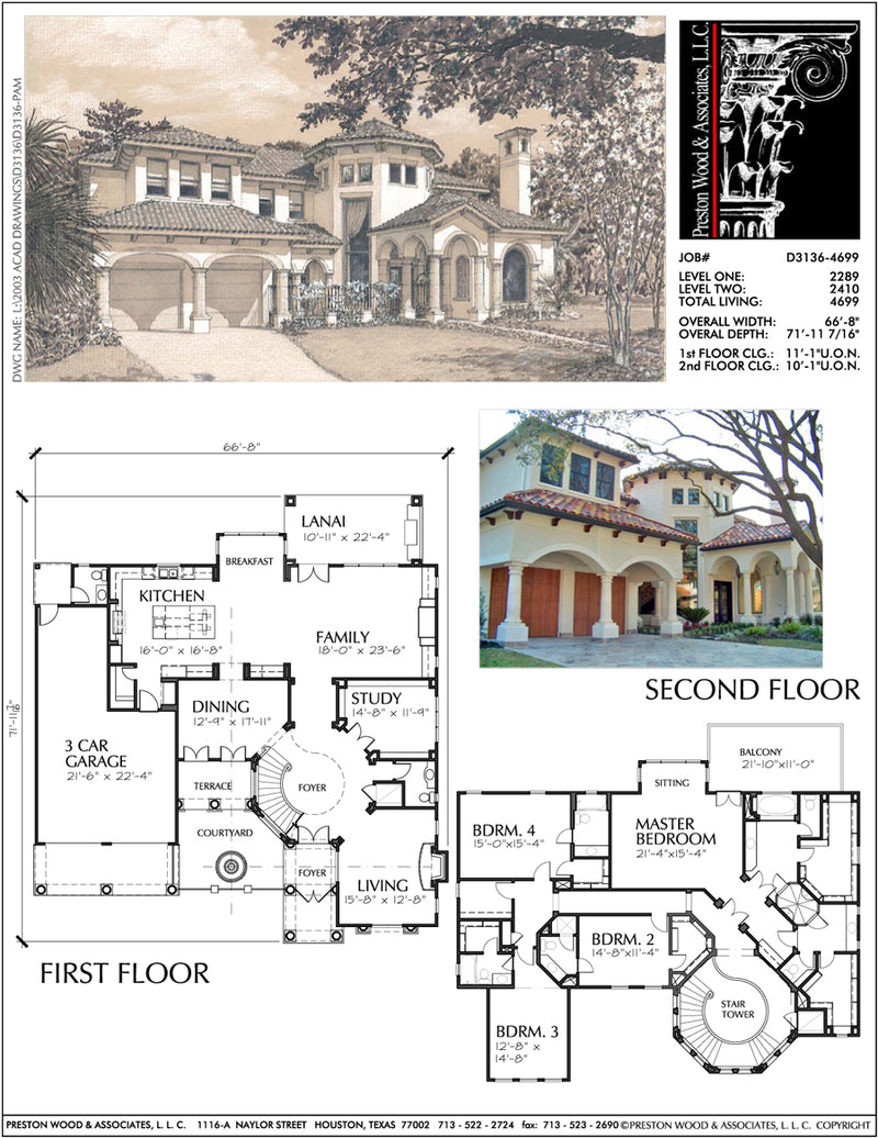Two Story Home Plan aD3136