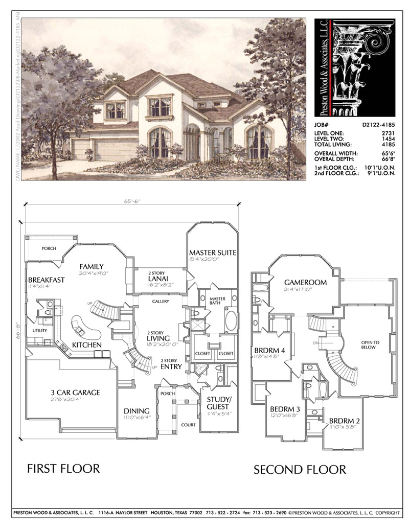Two Story House Plan D2122