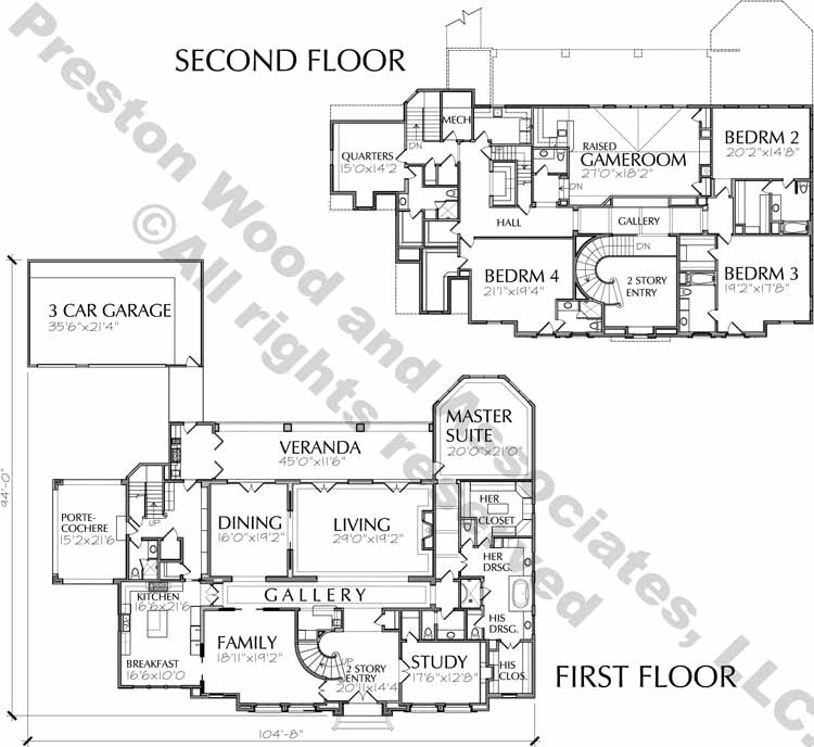 Two Story House Plan D7016