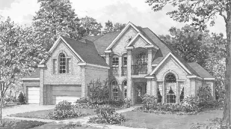 Traditional Style House Plan C8284