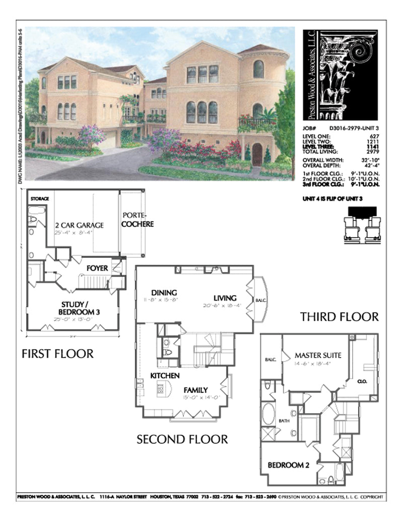 Townhouse Plan D3016 u3