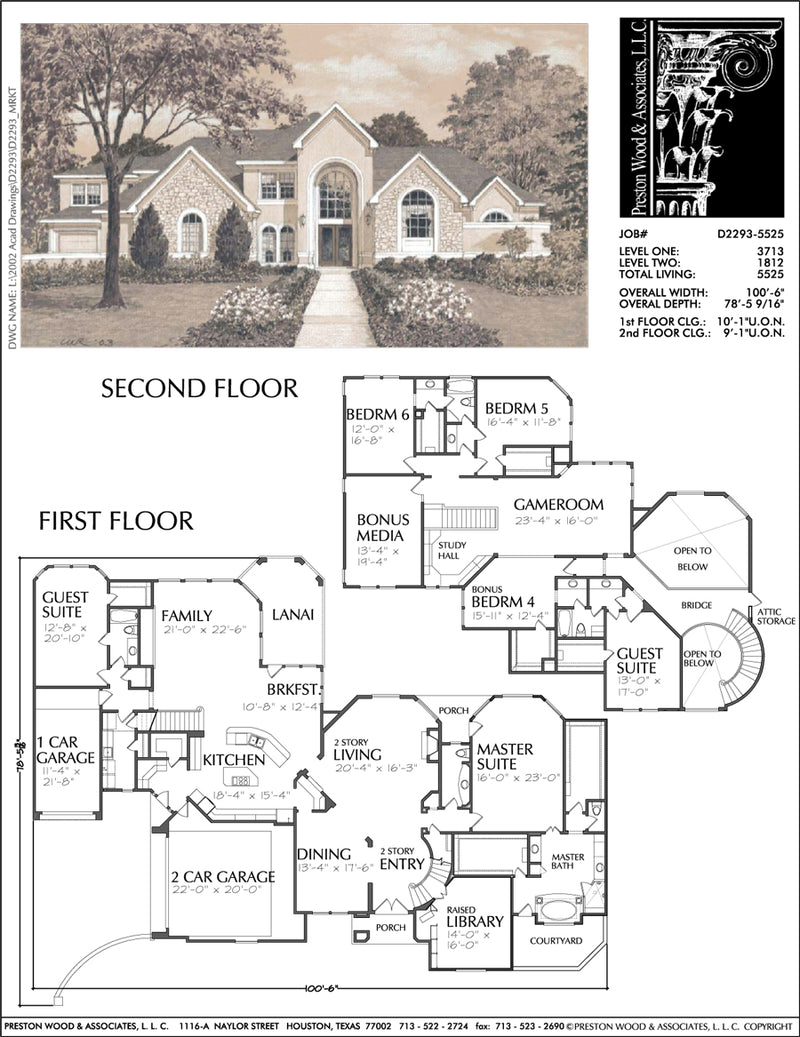 Two Story Home Plan D2293