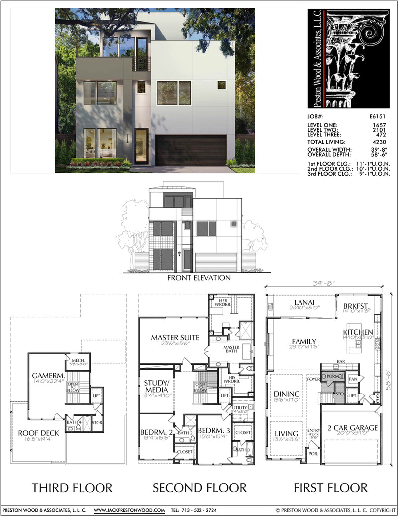 Two Story House Plan E6151
