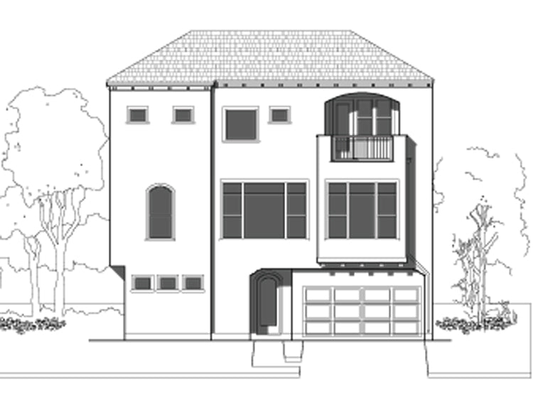 Townhouse Plan E1100 A1.1