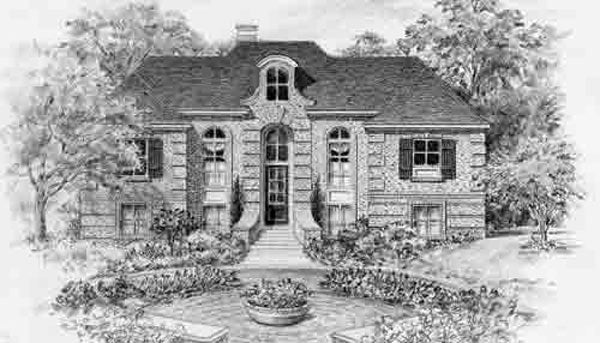 Eclectic Style House Plan C7025