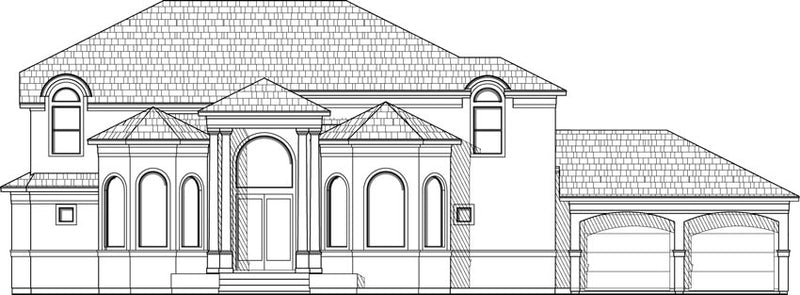 Two Story House Plan D3081